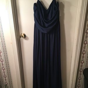 Navy blue dress.